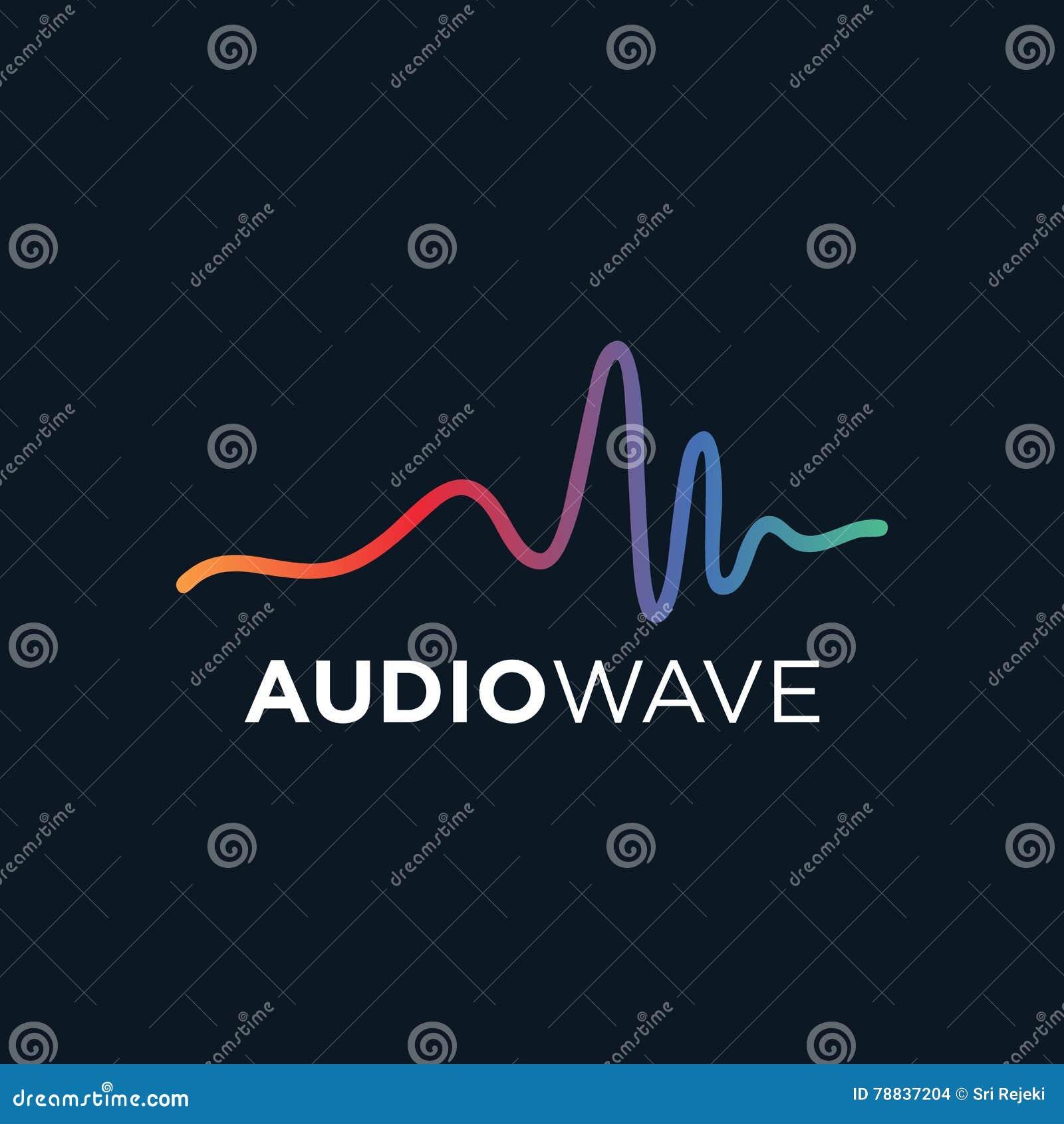 Onda acústica de la música, tecnología audio, ejemplo del vector