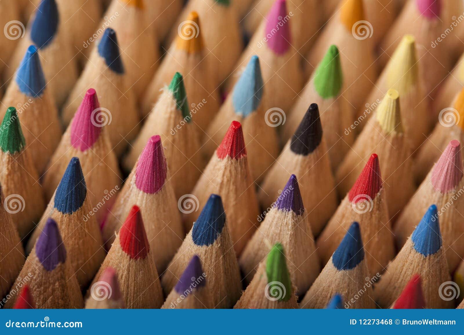 Onda colorida dos lápis
