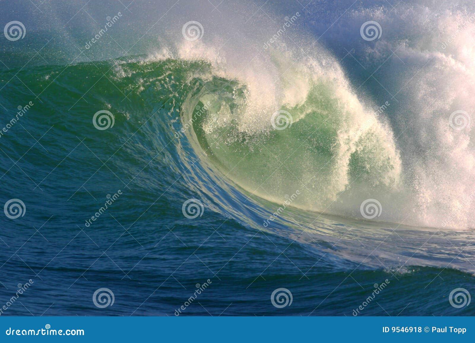 Onda de oceano da água