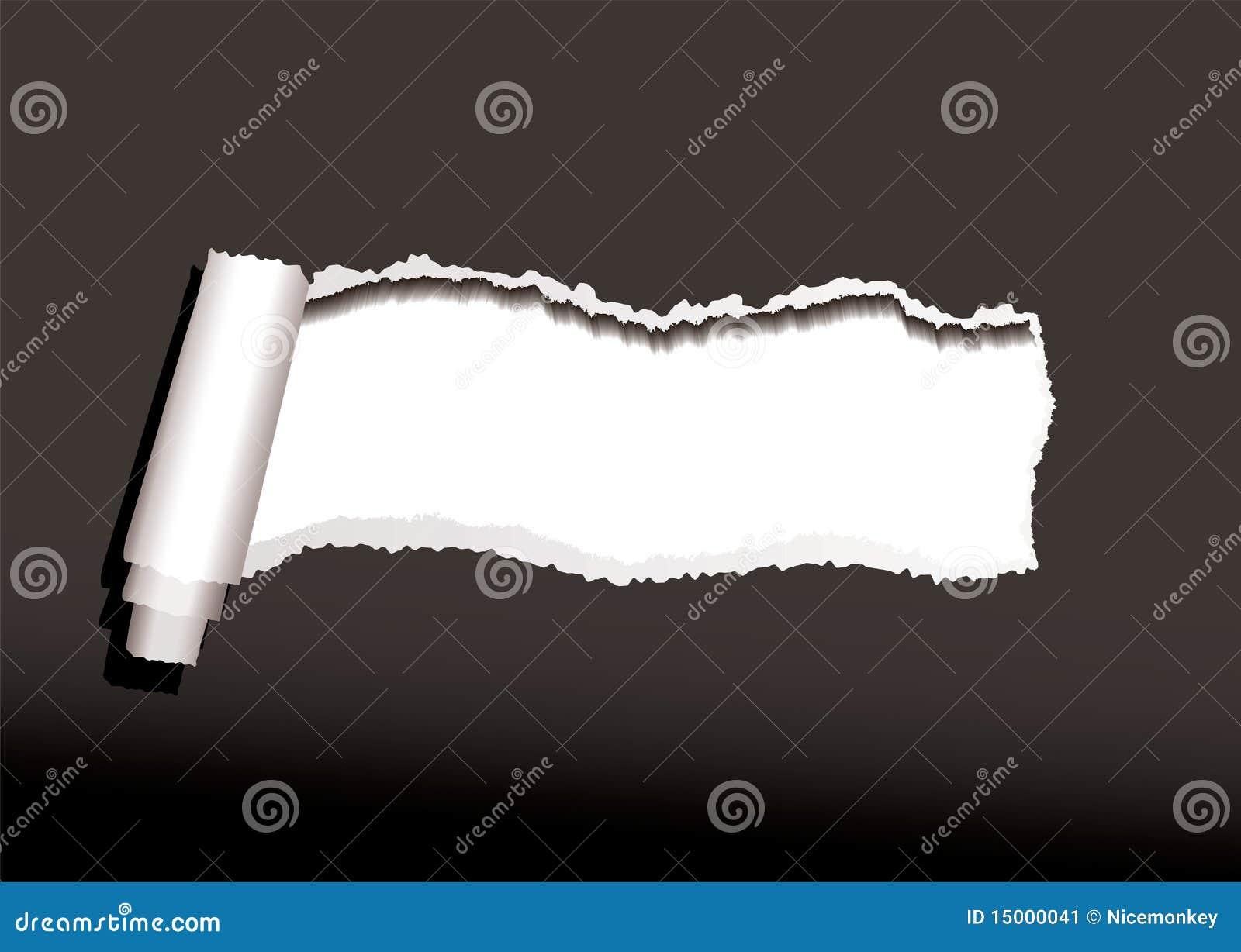 Onda de papel preta