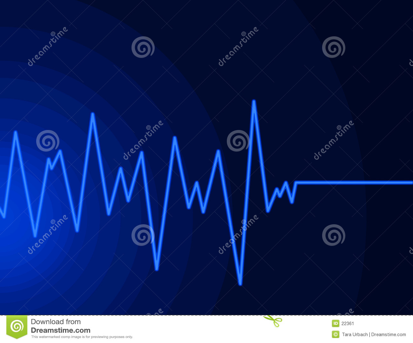 Onda de rádio - azul de néon
