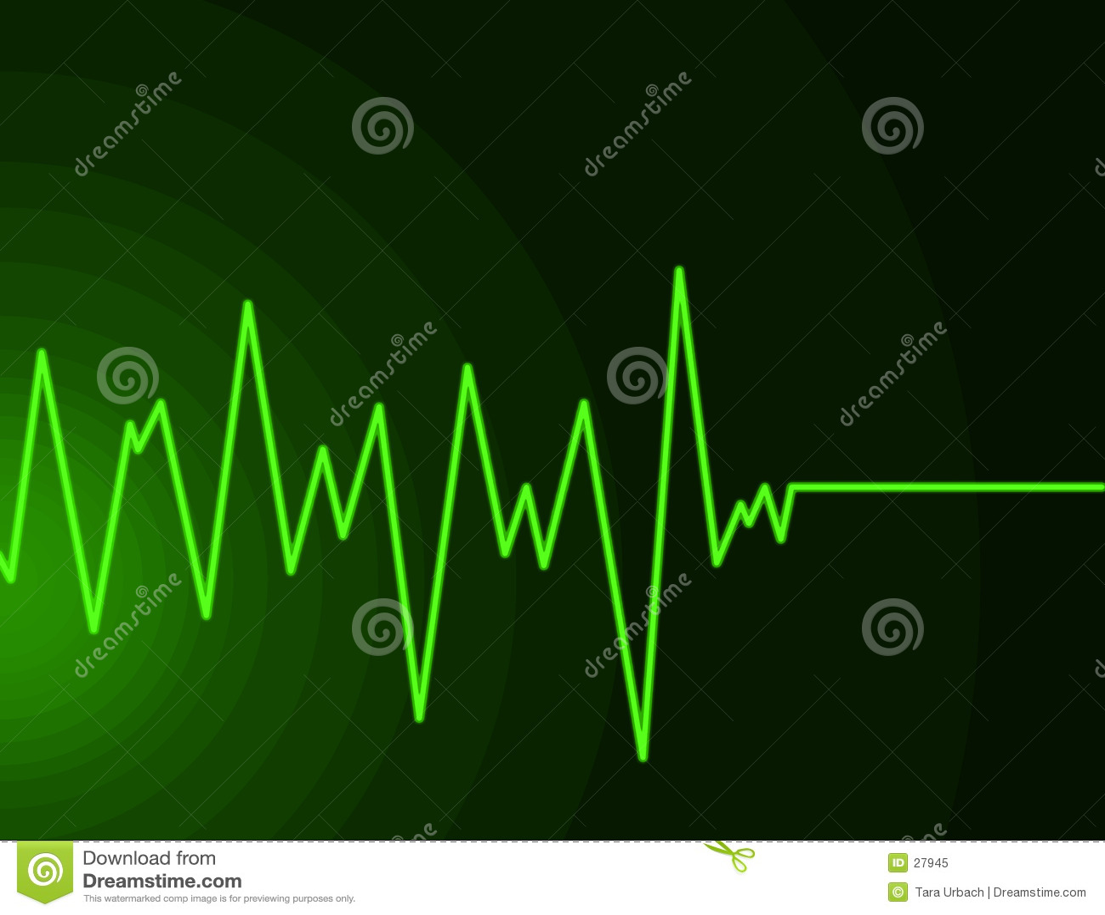 Onda de rádio - verde do néon