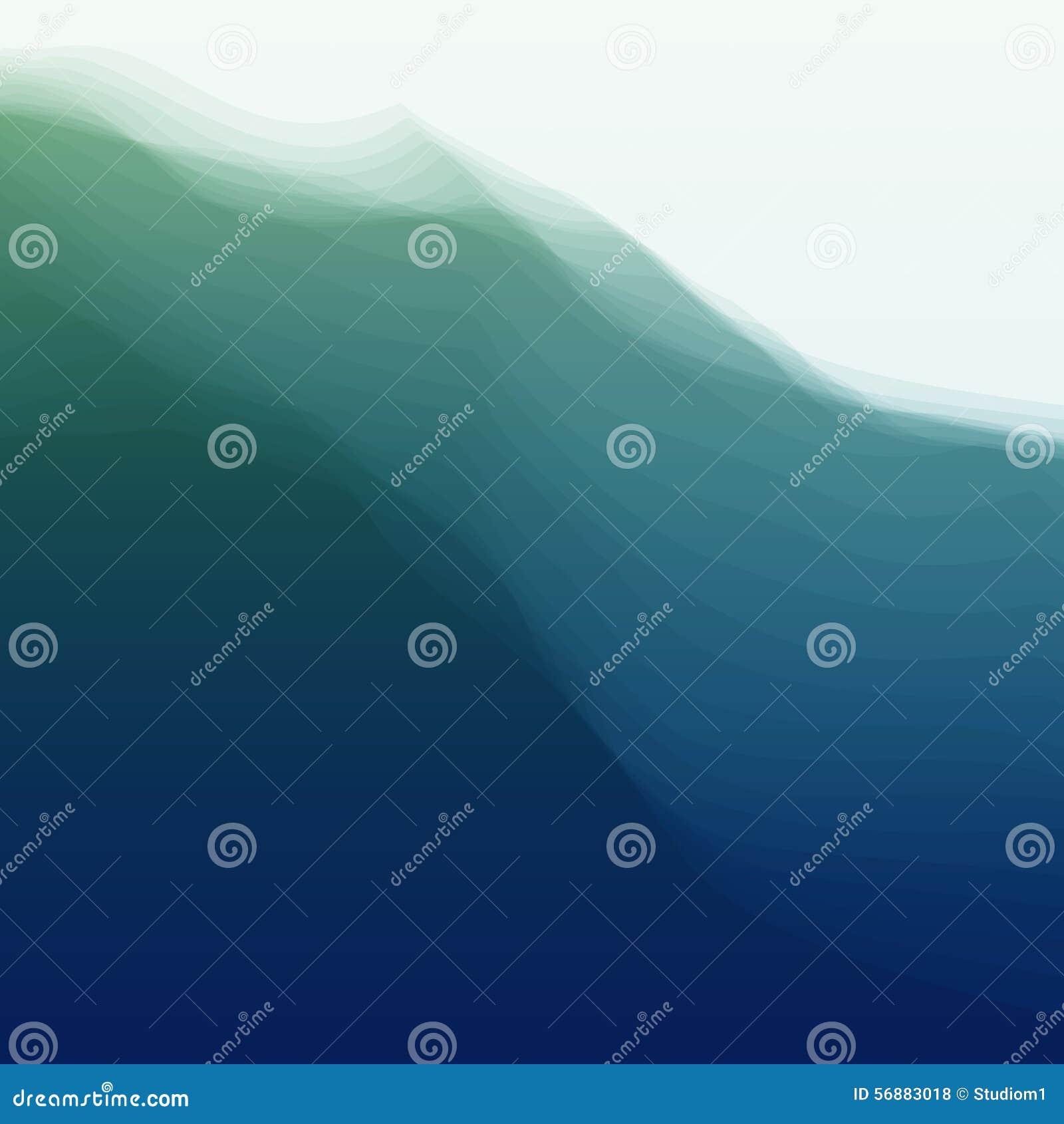 Onda di acqua Illustrazione di vettore per la vostra acqua dolce di design