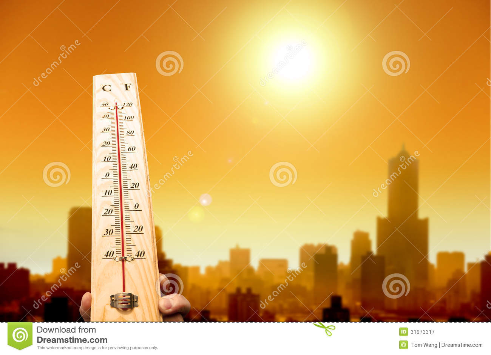 Onda di calore nella città