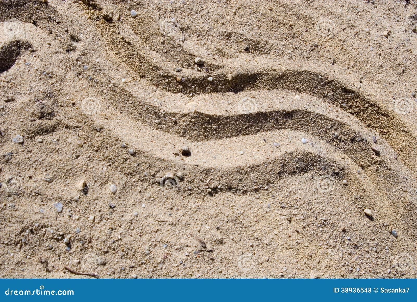 Onda en la arena
