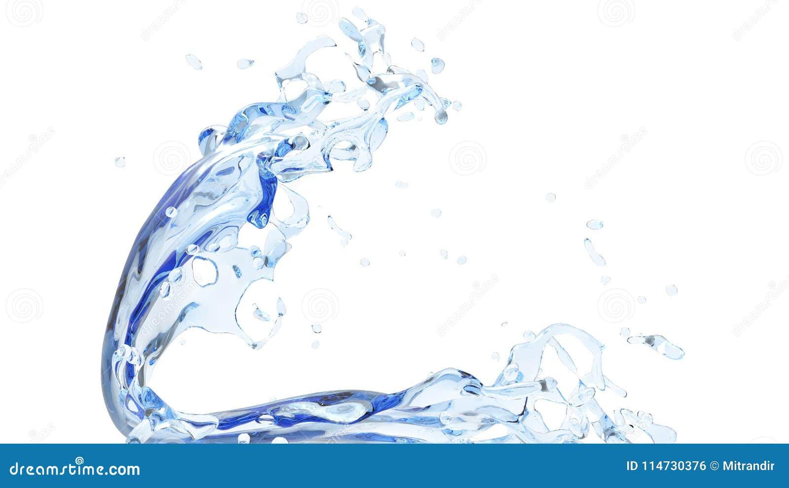 Onda pequena da água pura limpa
