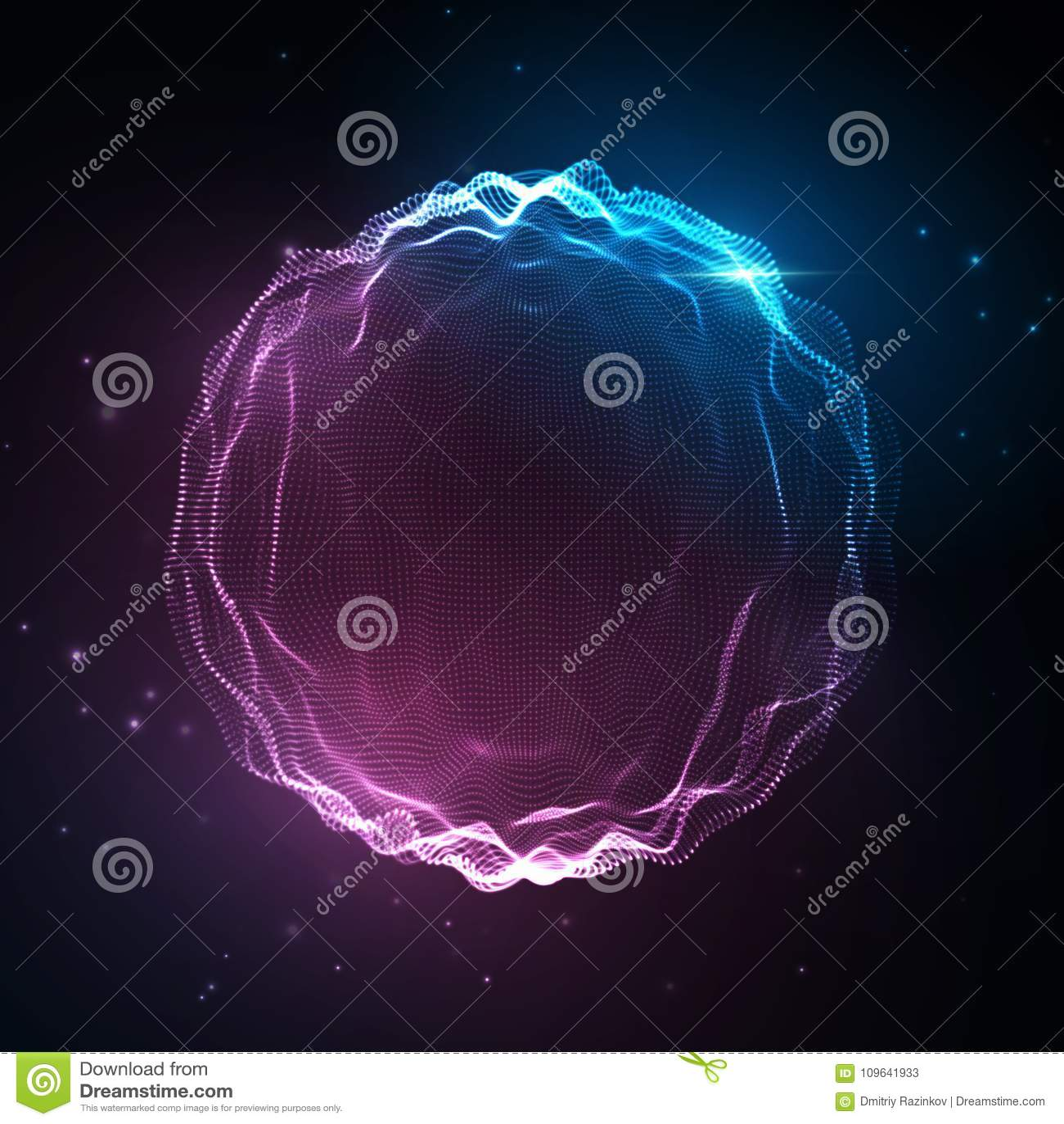 Onda sadia Fundo de néon abstrato, voz da música do vetor, espectro digital da forma de onda da música, pulso audio e frequência