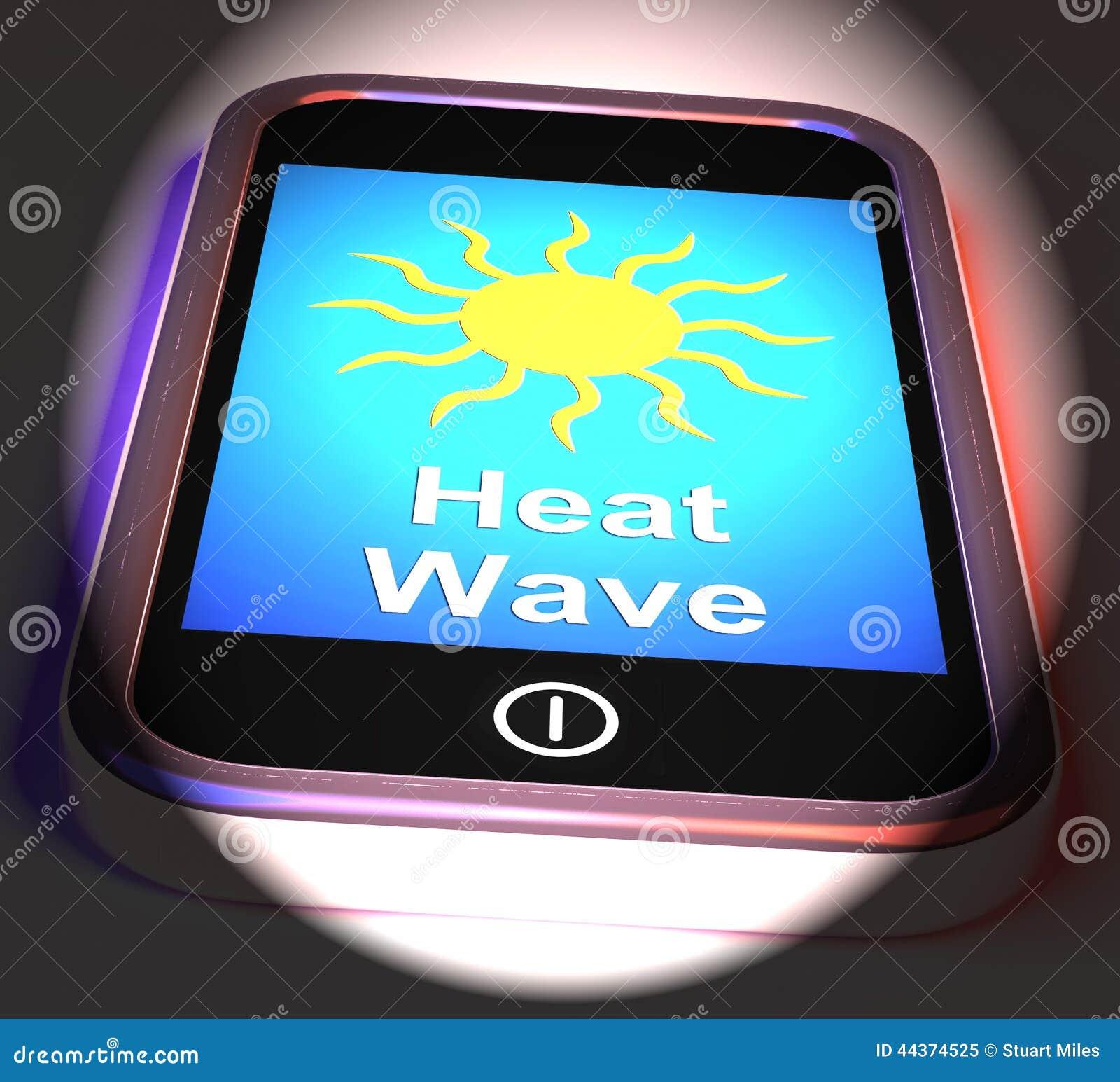 Onda termica sul telefono visualizza il caldo