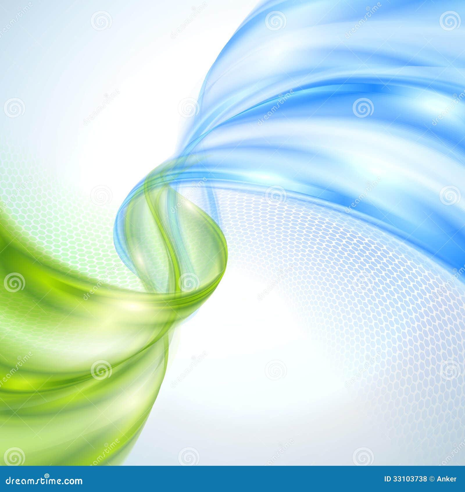 Onda verde y azul abstracta