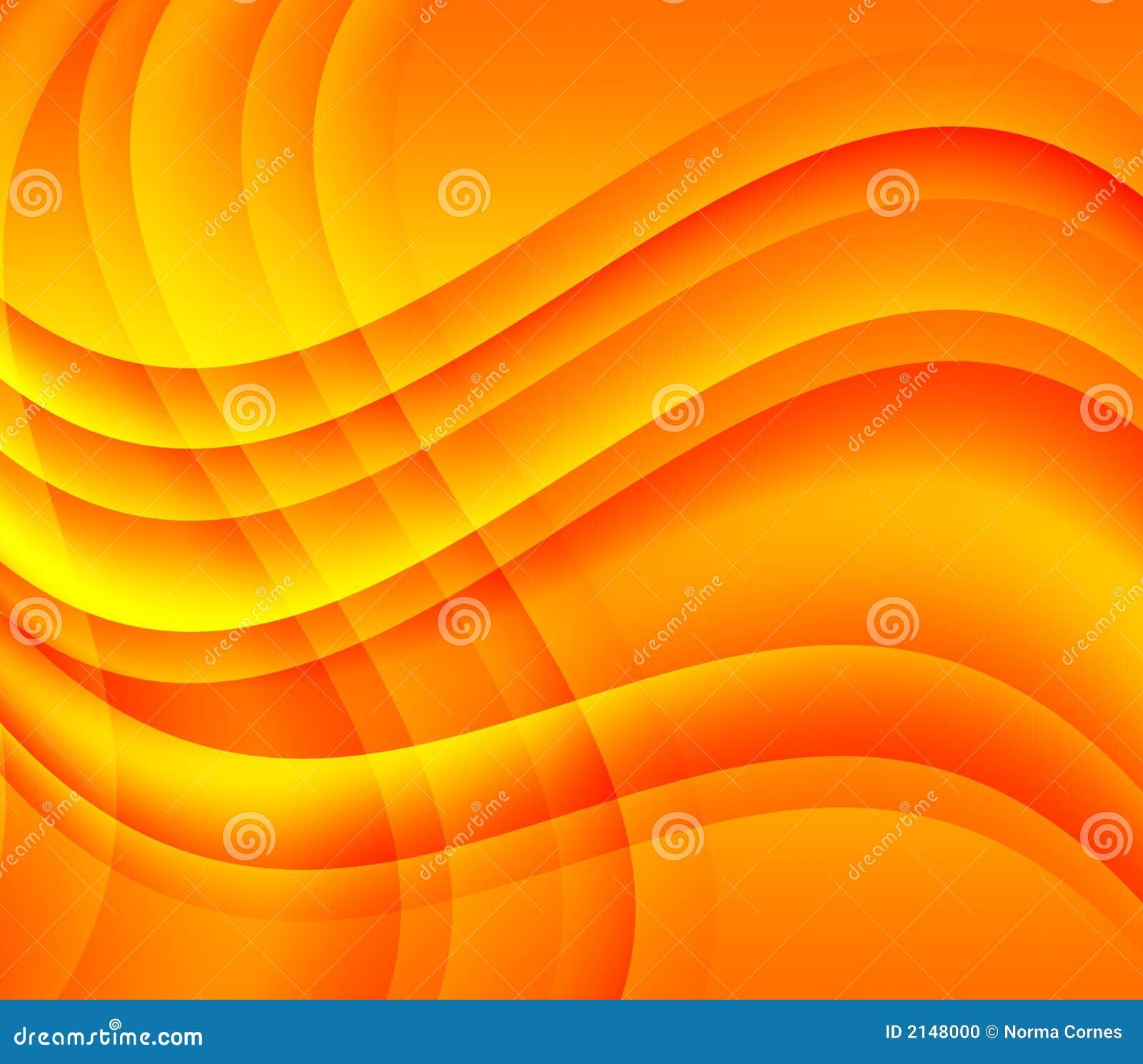 Ondas amarillo naranja y remolinos foto de archivo - Amarillo naranja ...