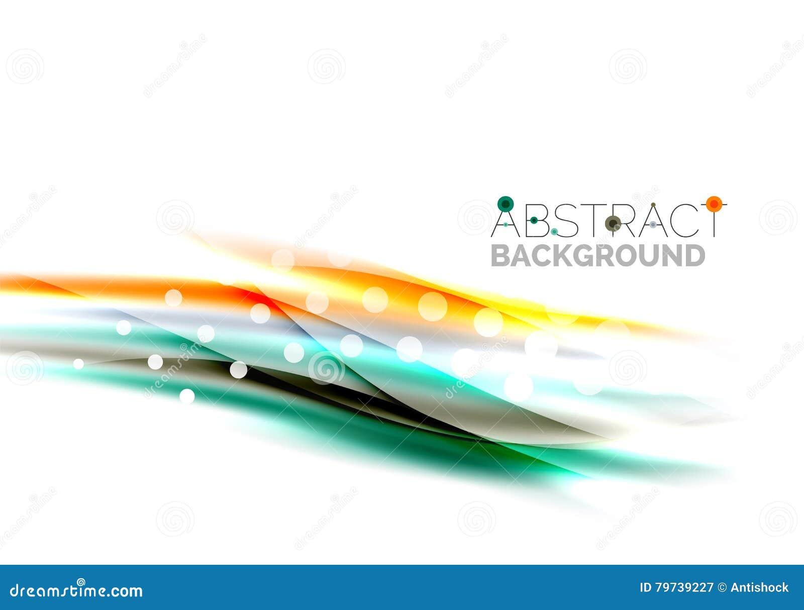 Ondas borrosas del color, líneas Plantilla abstracta del fondo del vector