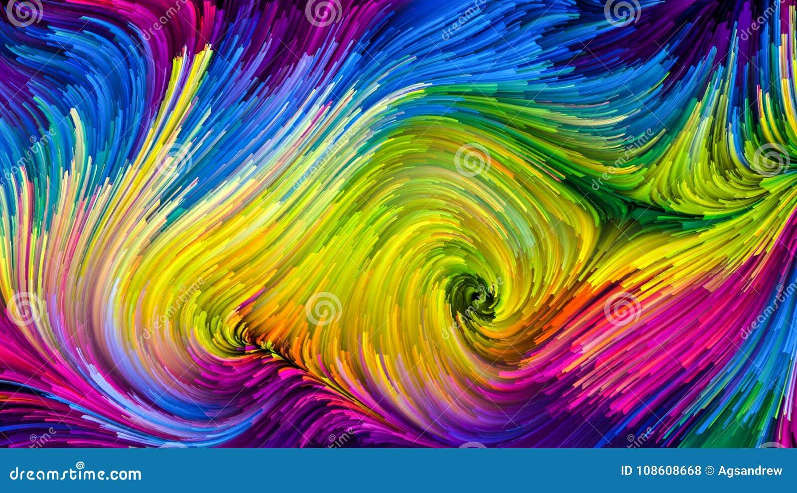 Ondas da pintura colorida