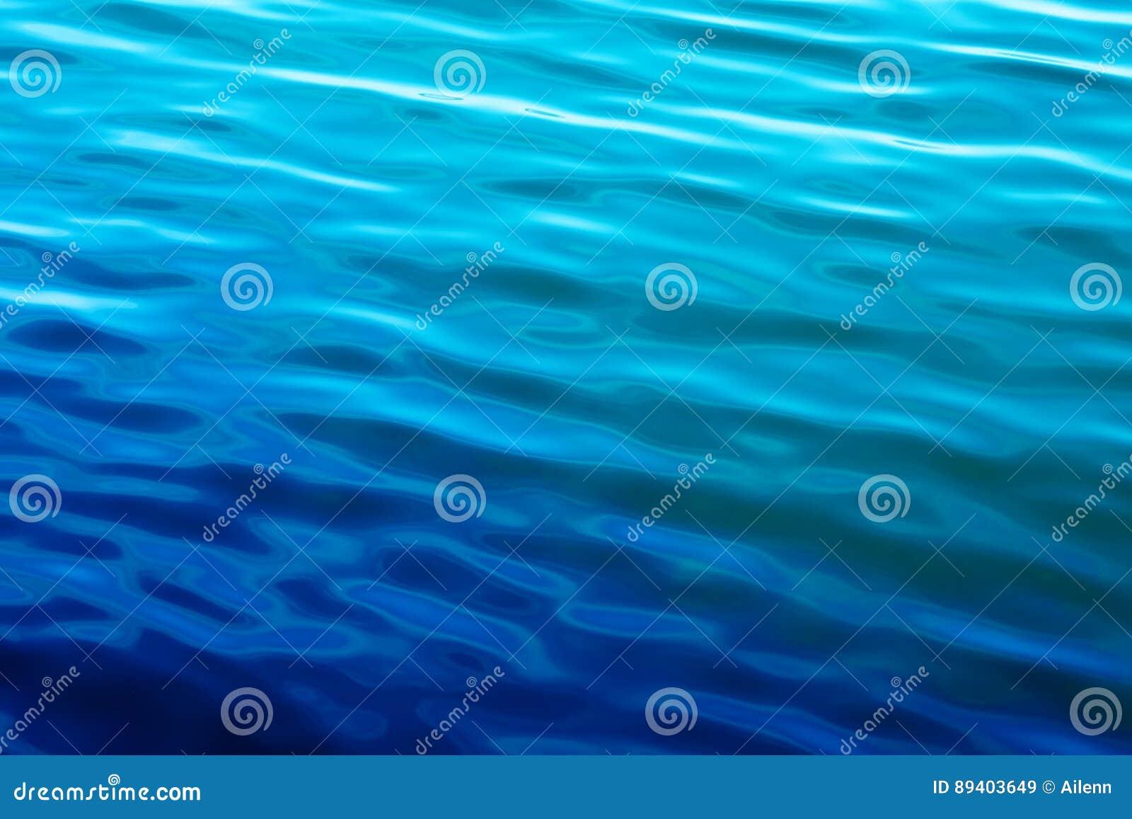 Ondas de água azul