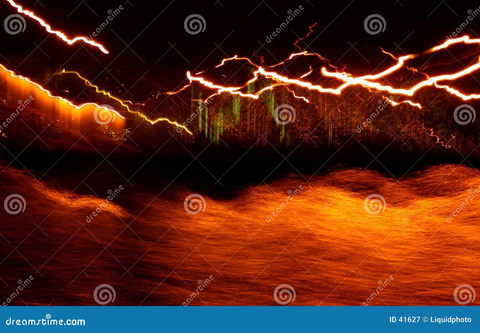 Download Ondas ligeras Hawaii imagen de archivo. Imagen de anaranjado - 41627