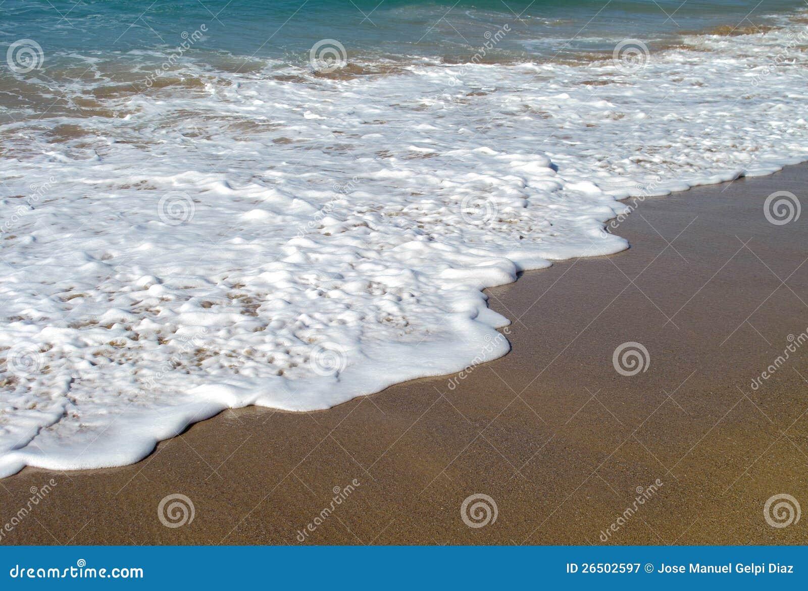 Ondas que quebram na costa