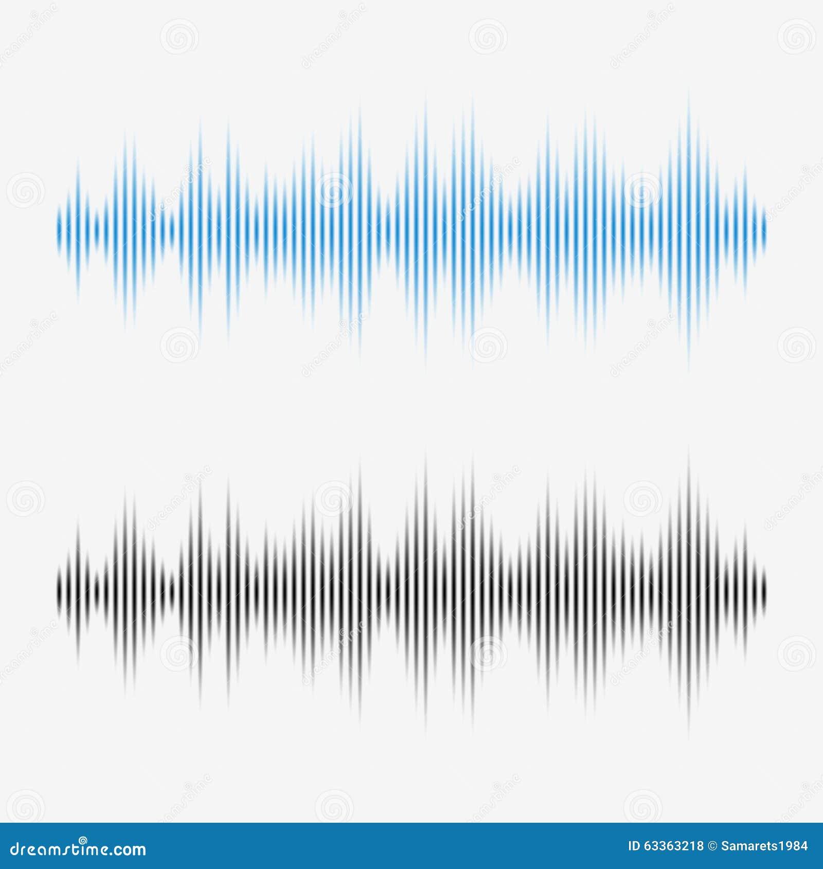 Ondas sadias do vetor Equalizador de Digitas da música