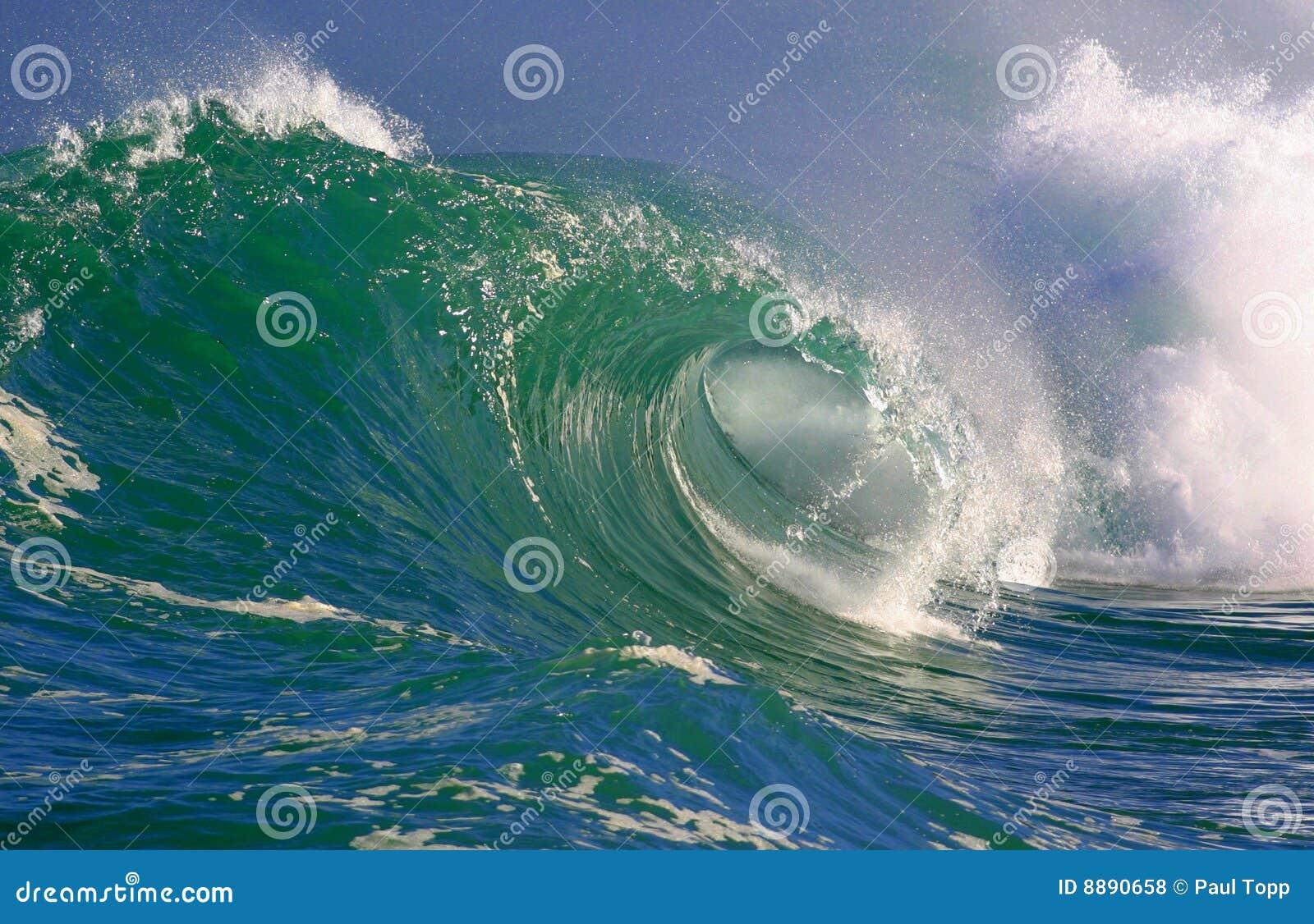 Ondas surfando Havaí