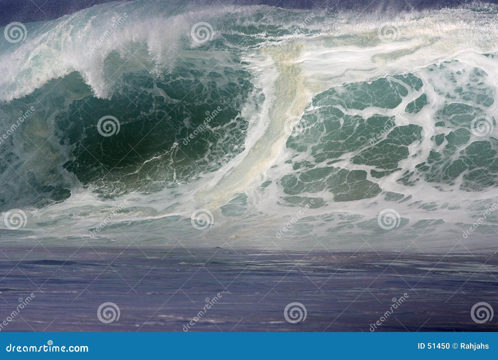 Download Onde photo stock. Image du battement, grand, mousseux, océan - 51450