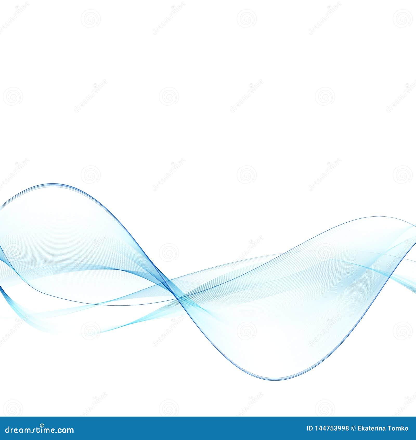 Onde abstraite bleue Vague abstraite de fond de vecteur