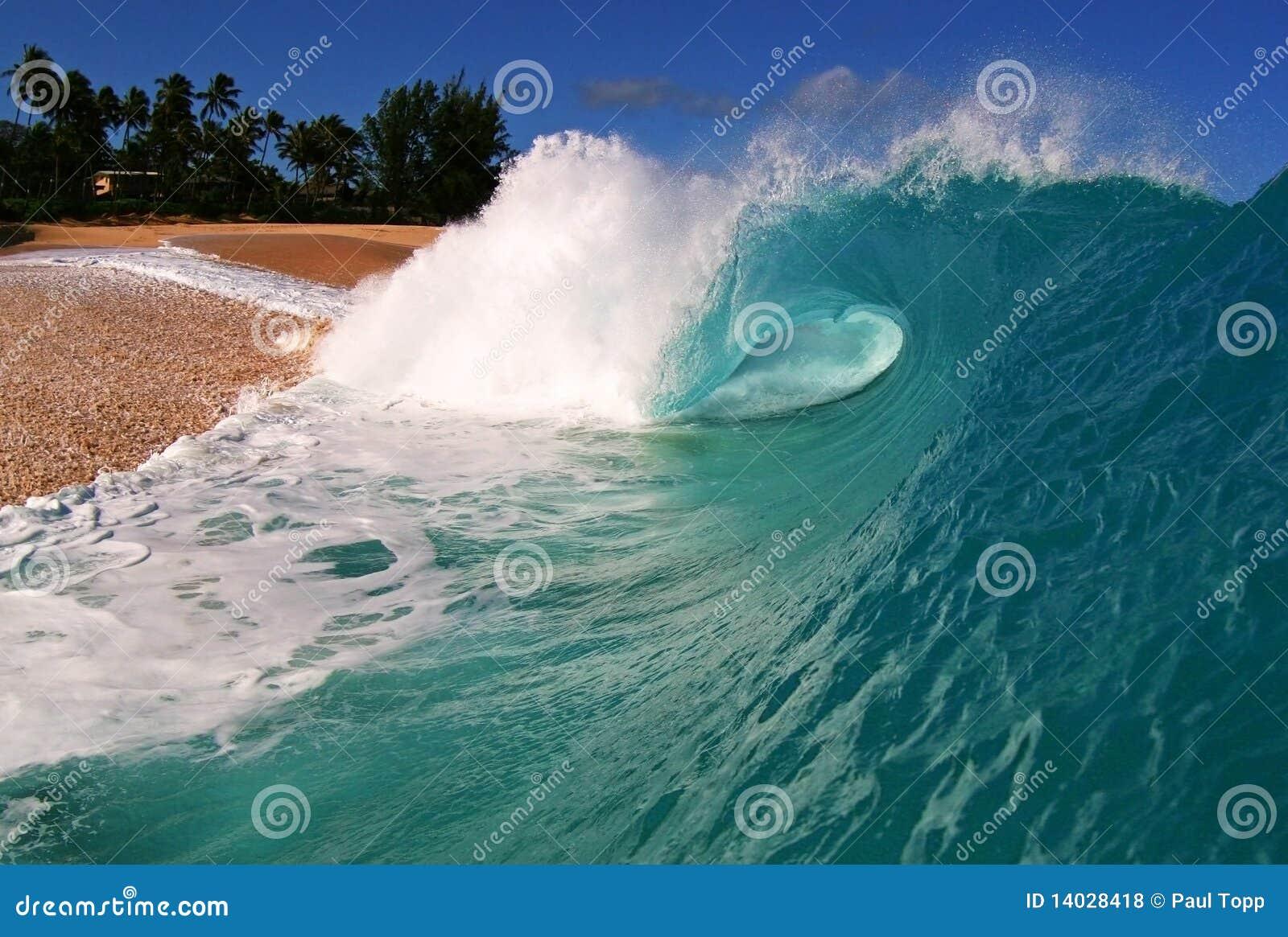 Onde d océan à la plage de Keiki