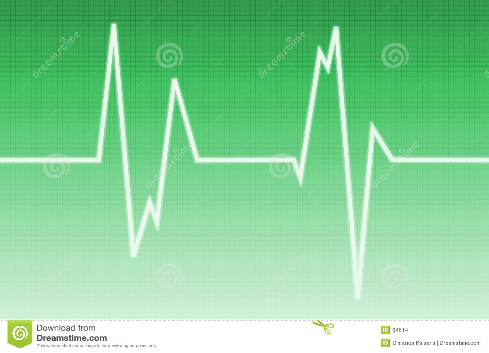 Download Onde De Cardiogramme - Onde Radio Illustration Stock - Illustration du vert, radio: 64614