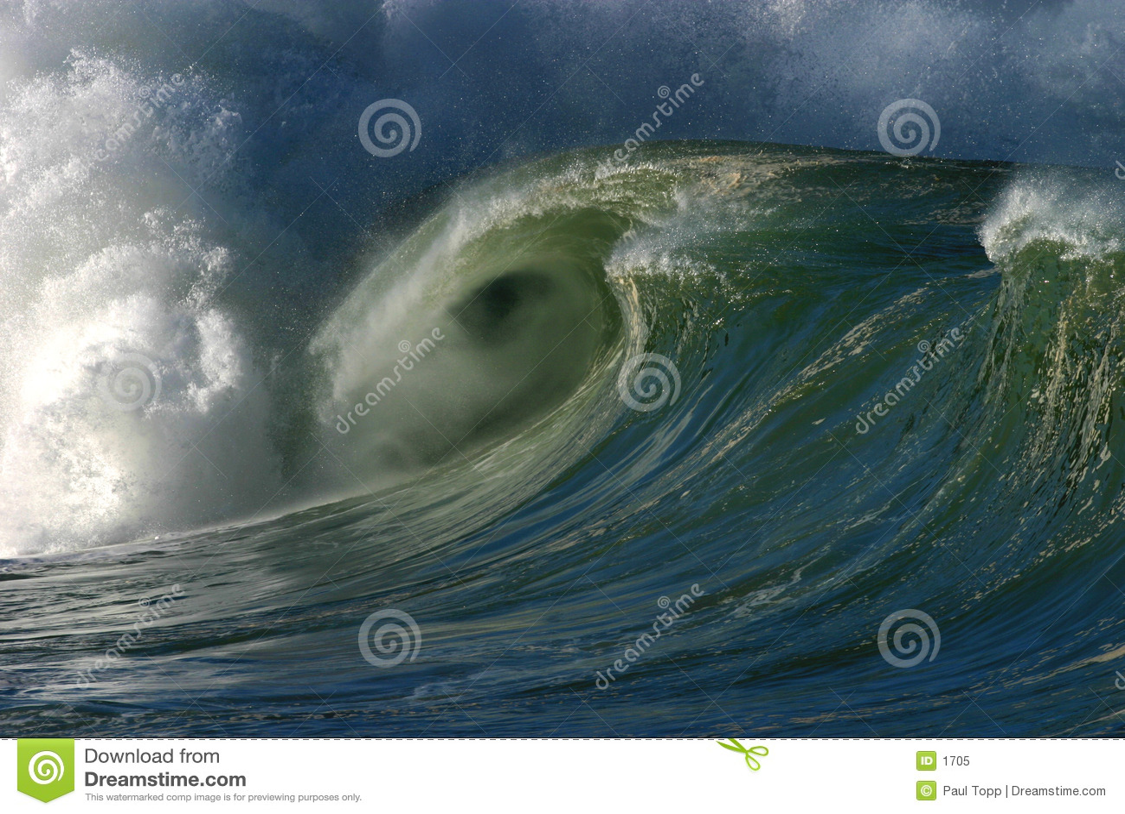 Download Onde de rupture image stock. Image du concept, île, normal - 1705