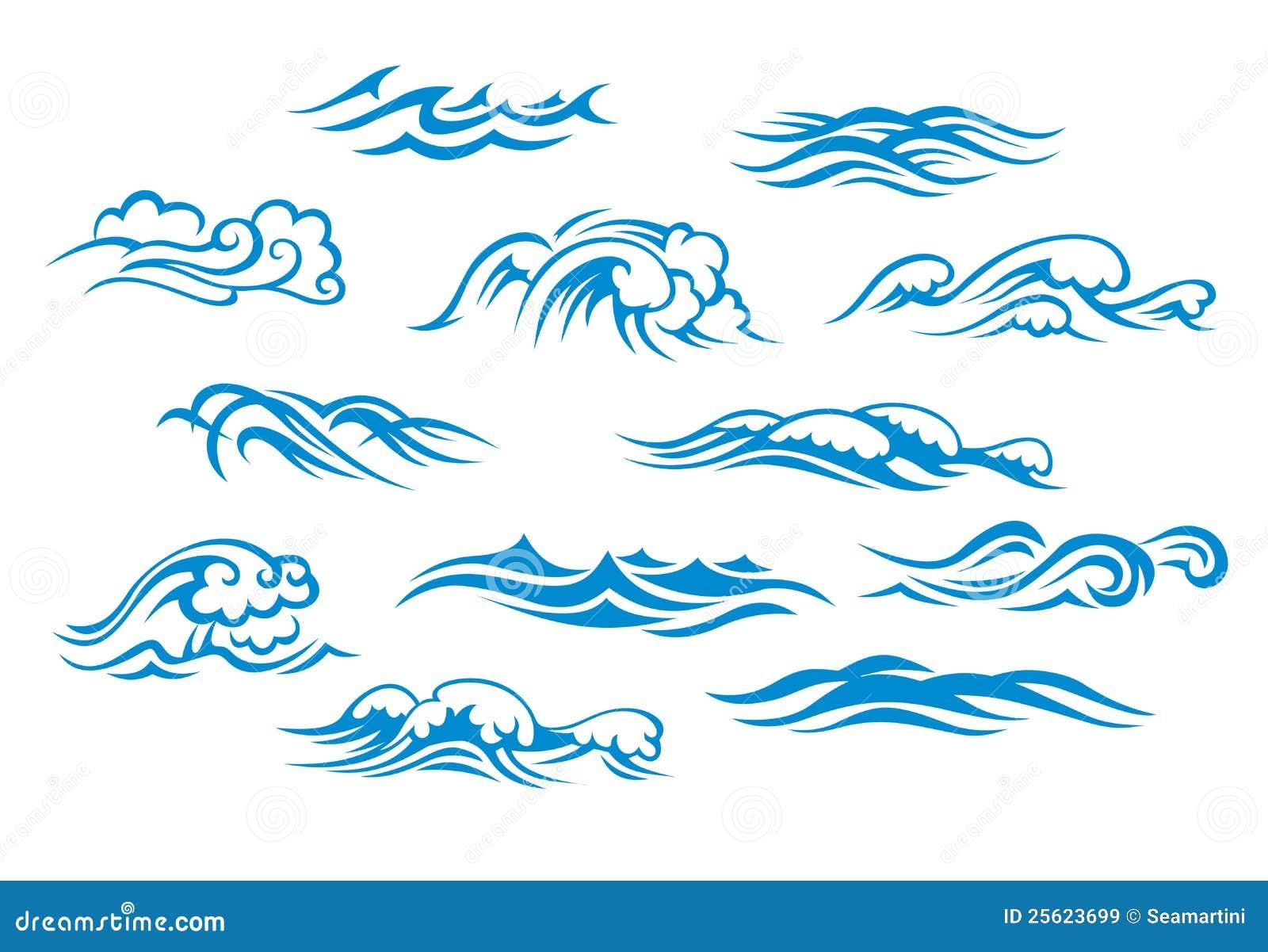 Onde del mare e dell 39 oceano illustrazione vettoriale - Foto di animali dell oceano ...