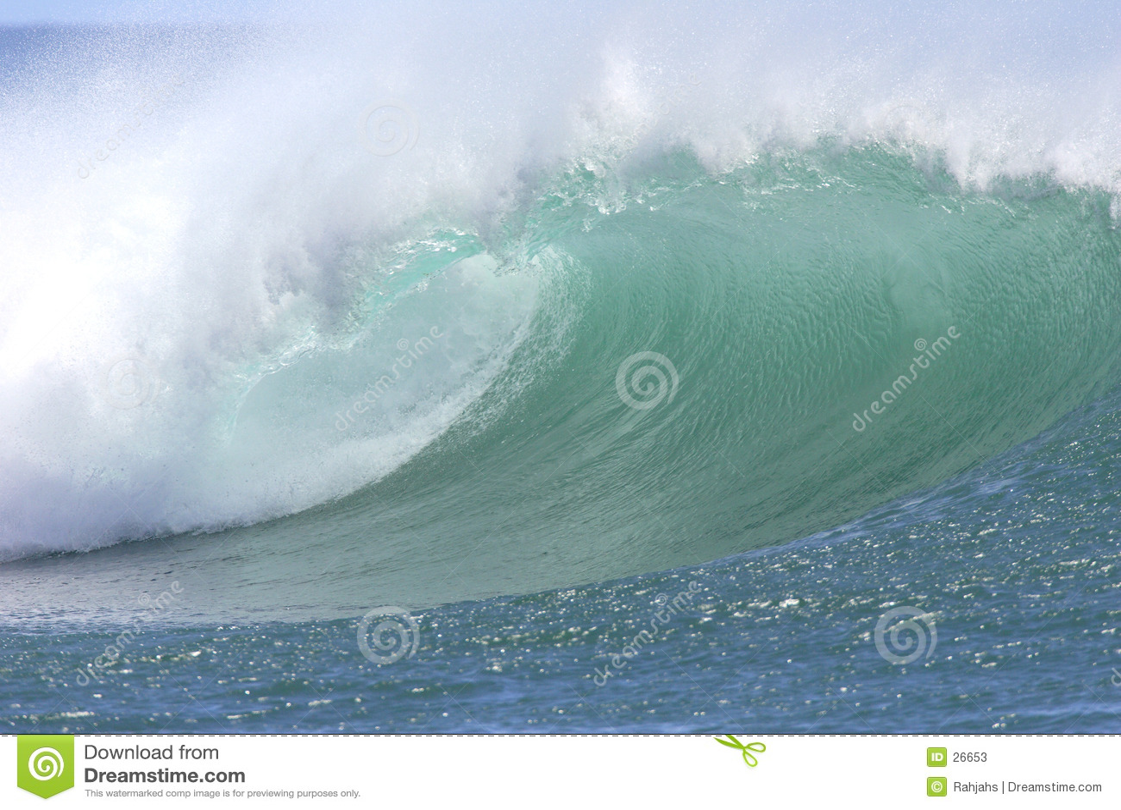 Onde du sud hawaïenne de rivage