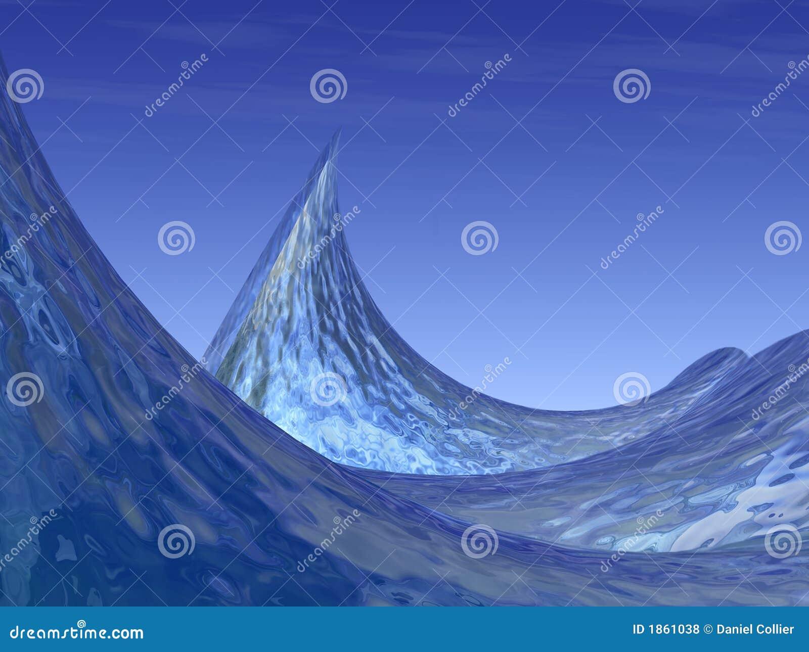 Onde e cresta di oceano surreali