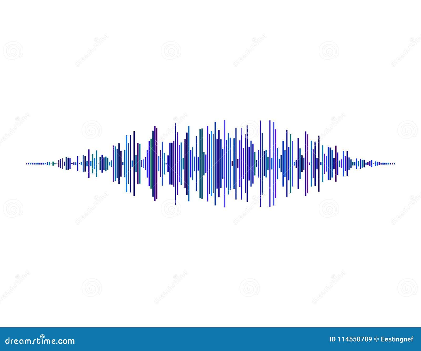 Onde sonore D isolement sur le fond blanc Illustration de vecteur