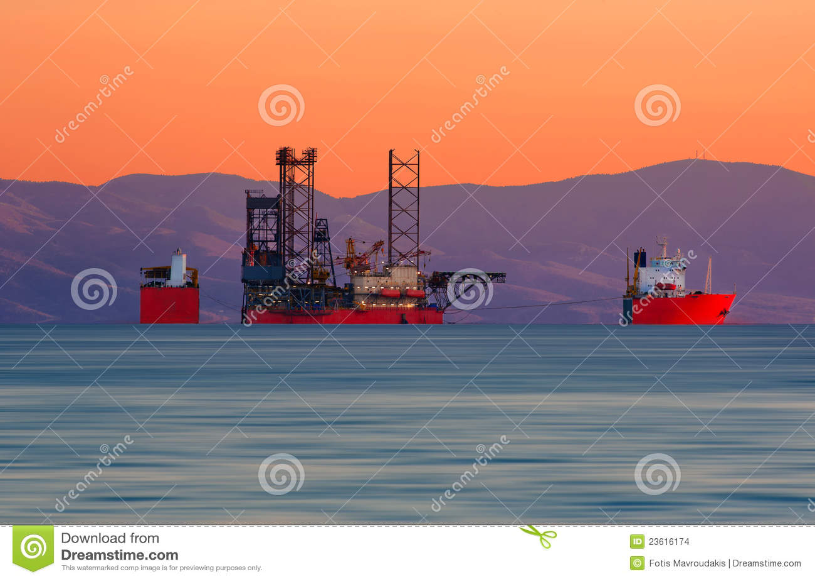 Onderdompelend vrachtschip
