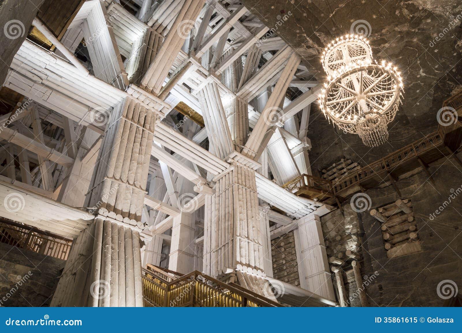 Ondergrondse kamer in de zoutmijn wieliczka stock afbeelding afbeelding 35861615 - Ondergrondse kamer ...