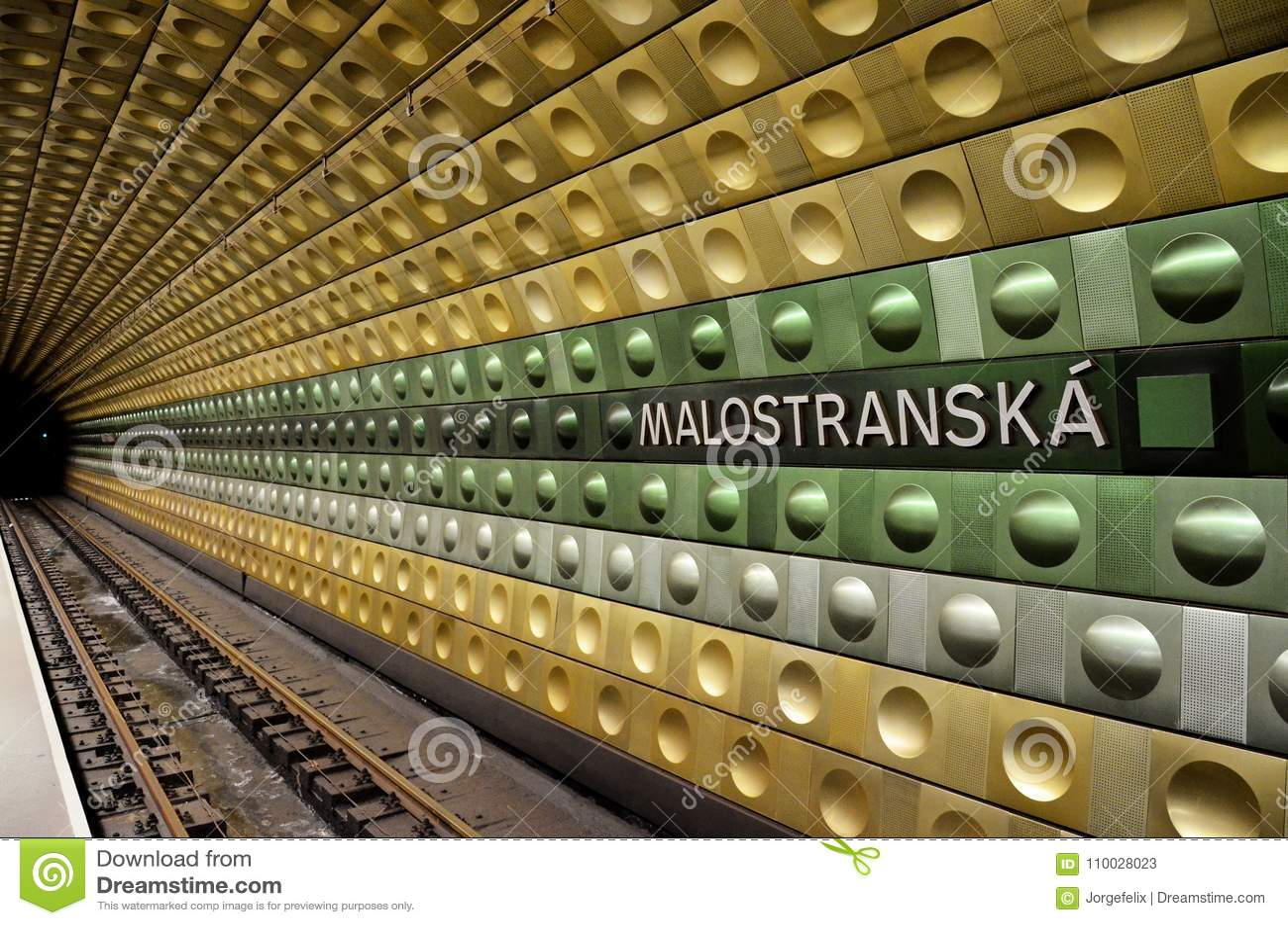 Ondergrondse post in de stad van Praag