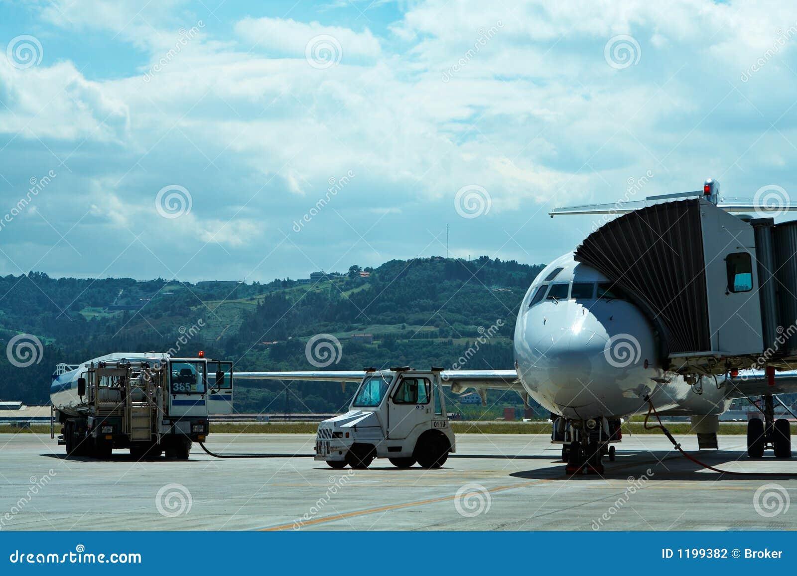 Onderhoud van vliegtuigen in de luchthaven