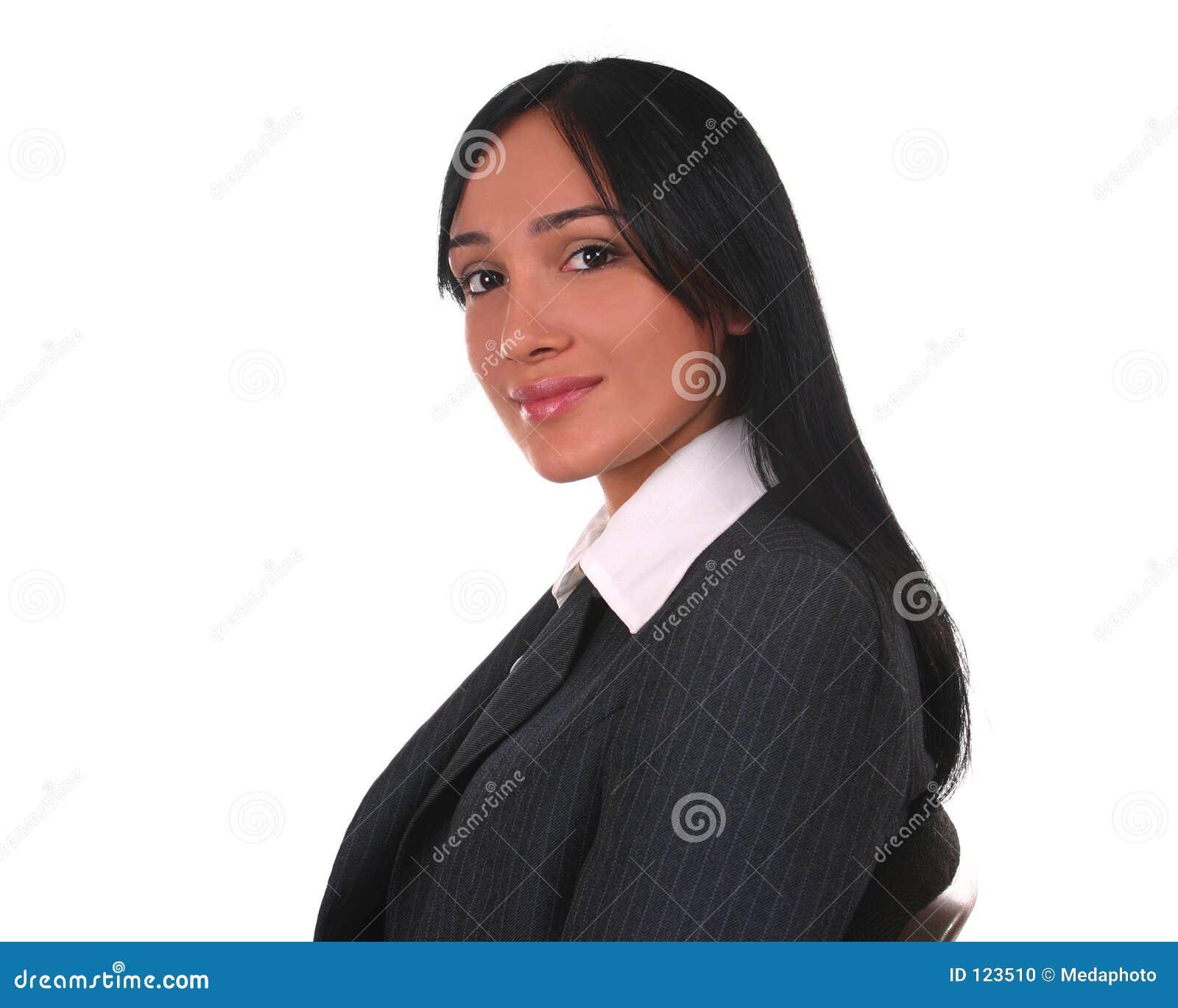Onderneemster met een warme blik stock foto afbeelding 123510 - Secretaresse witte ...