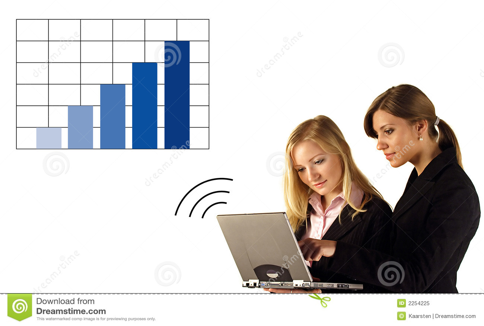 Onderneemster op Laptop Grafiek