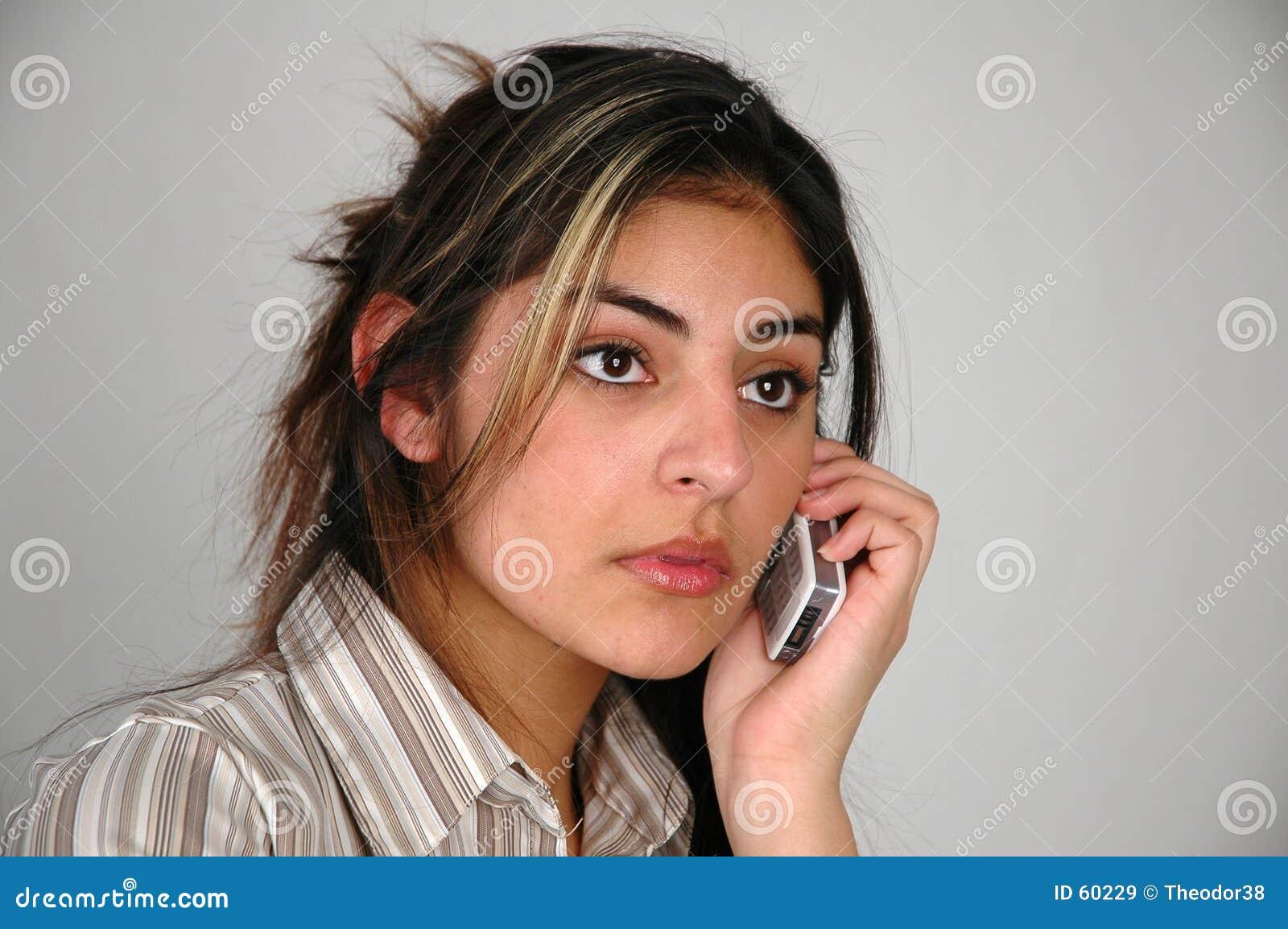 Onderneemster op telefoon-9