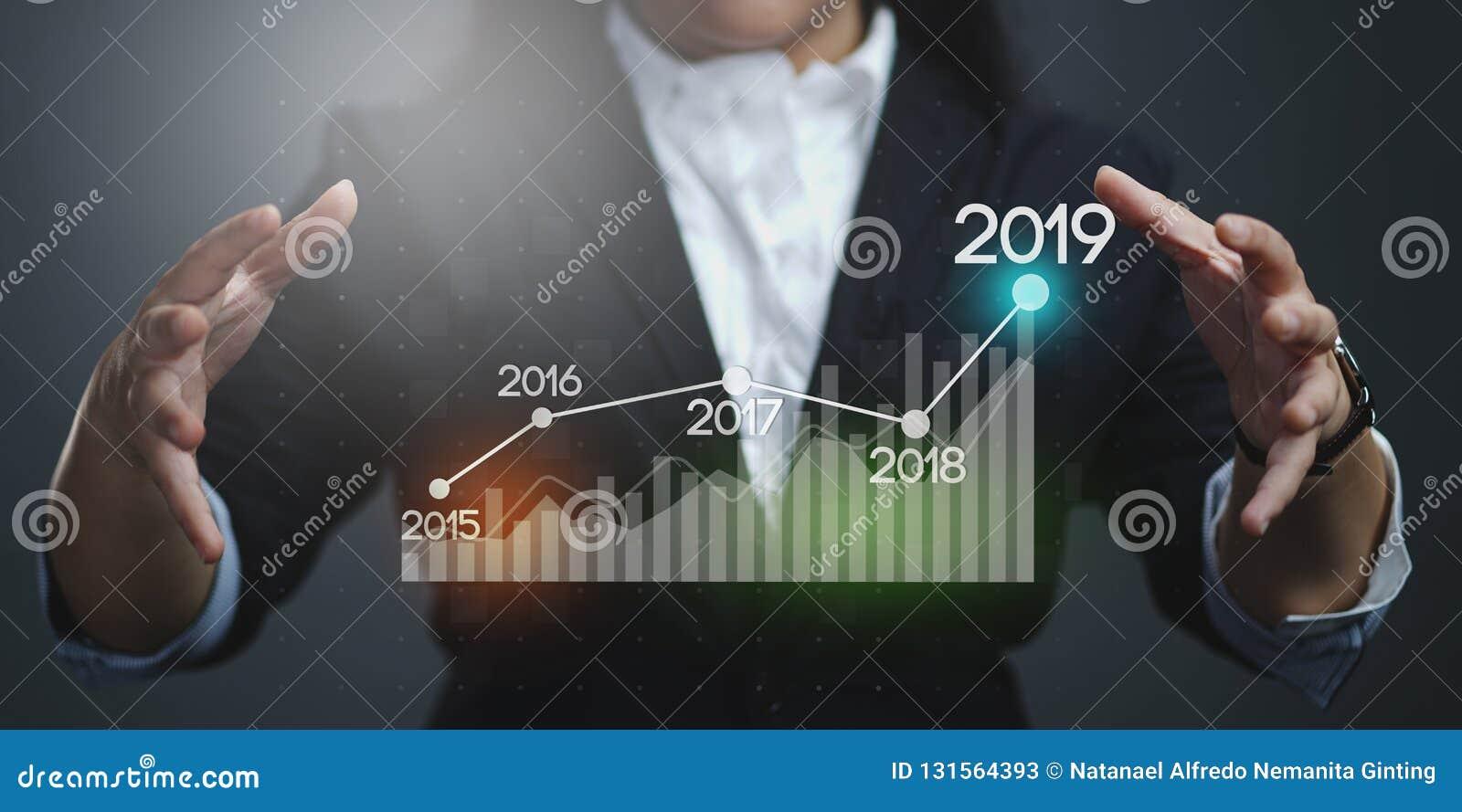 Onderneemster Showing Growing Statistic Financiële 2019