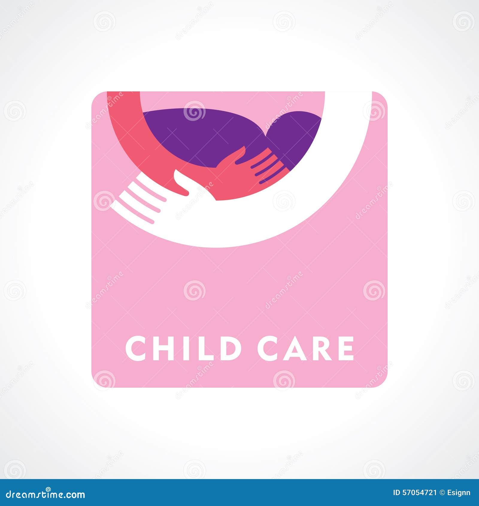 Onderteken de zorg van een moeder Het symbool van ouderlijke liefde