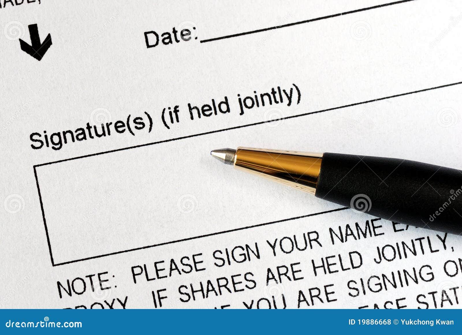 Onderteken een wettelijk document