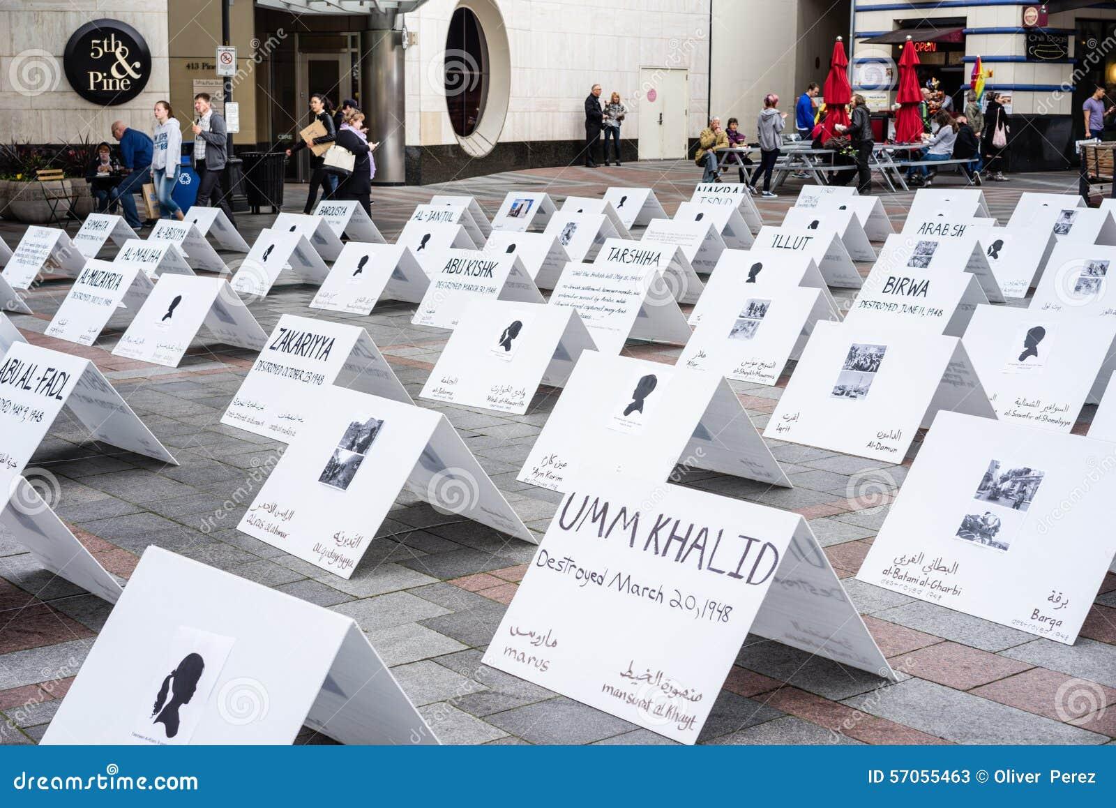 Ondertekent het protesteren Palestina Israël conflict