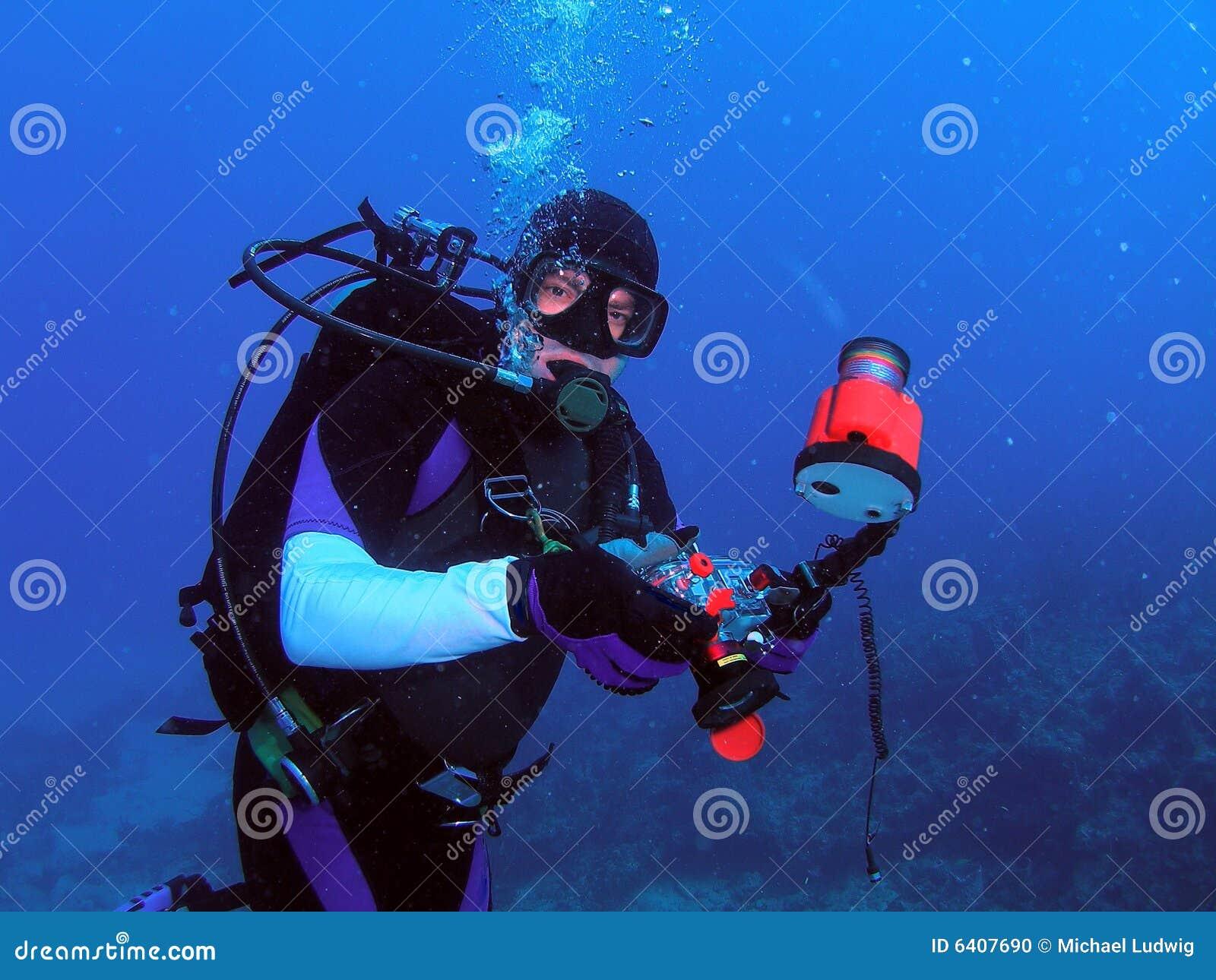 Onderwater Camera en Duiker