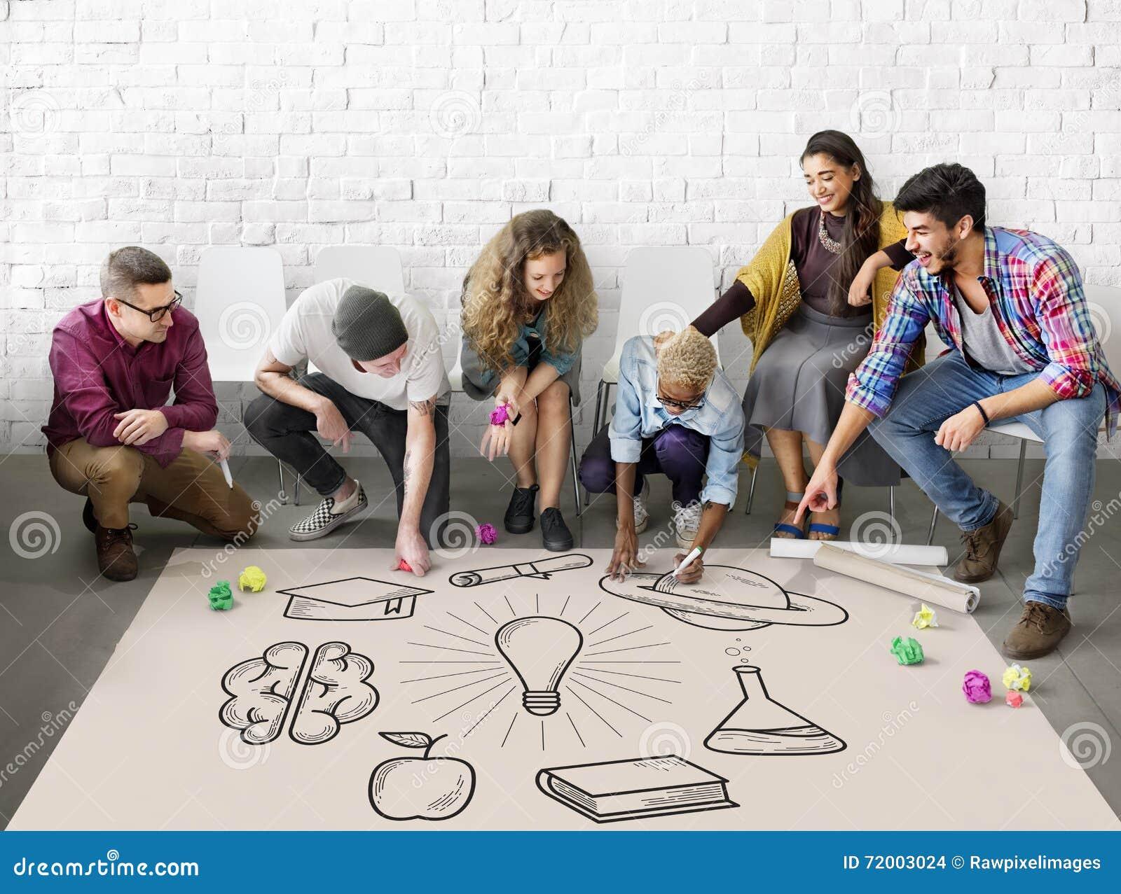 Onderwijs het Leren de Kennisconcept van de Ideeënstudie