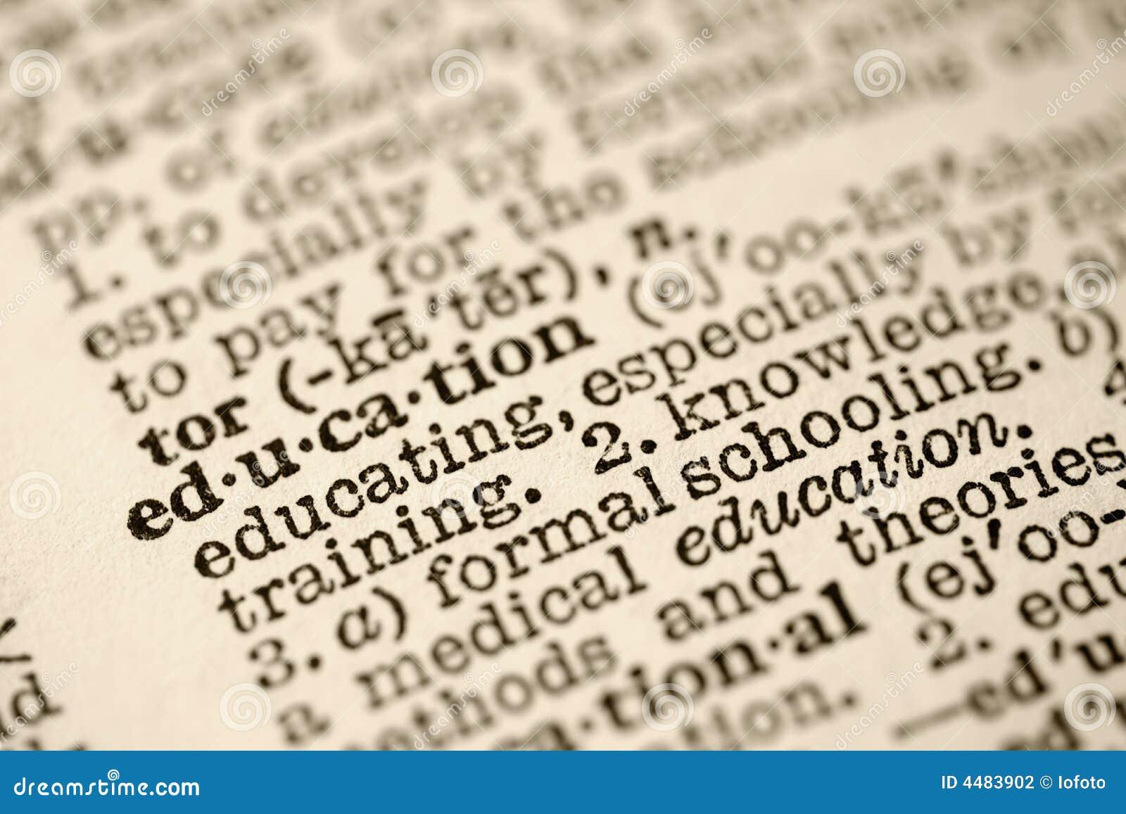 Onderwijs in woordenboek.