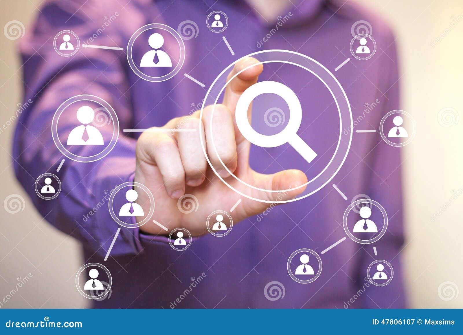 Onderzoeks meer magnifier bedrijfs loupe online mededeling