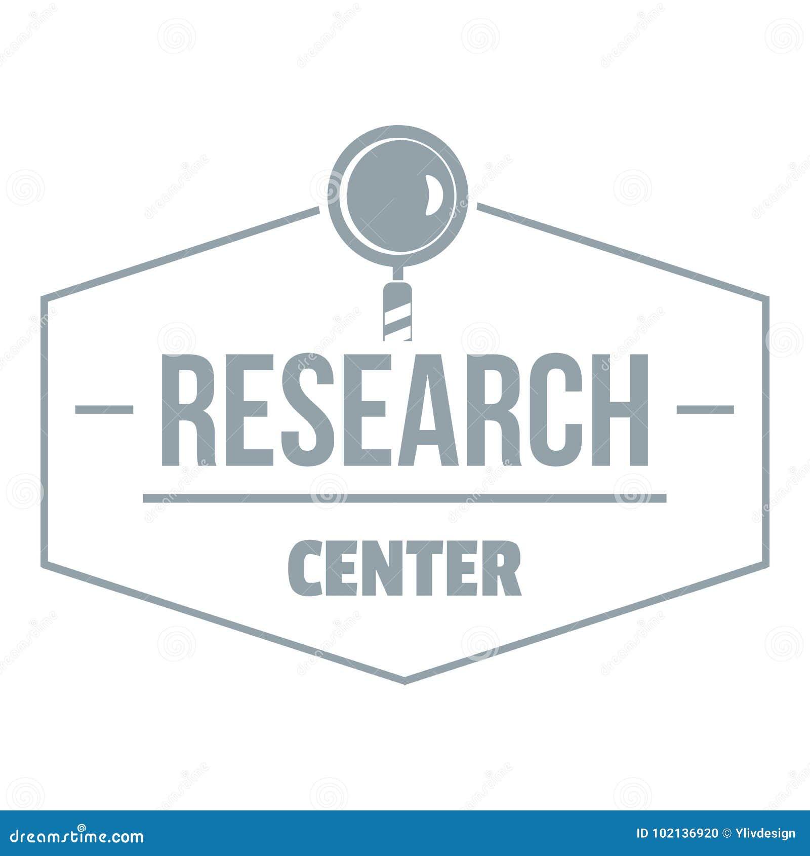 Onderzoekscentrumembleem, eenvoudige grijze stijl