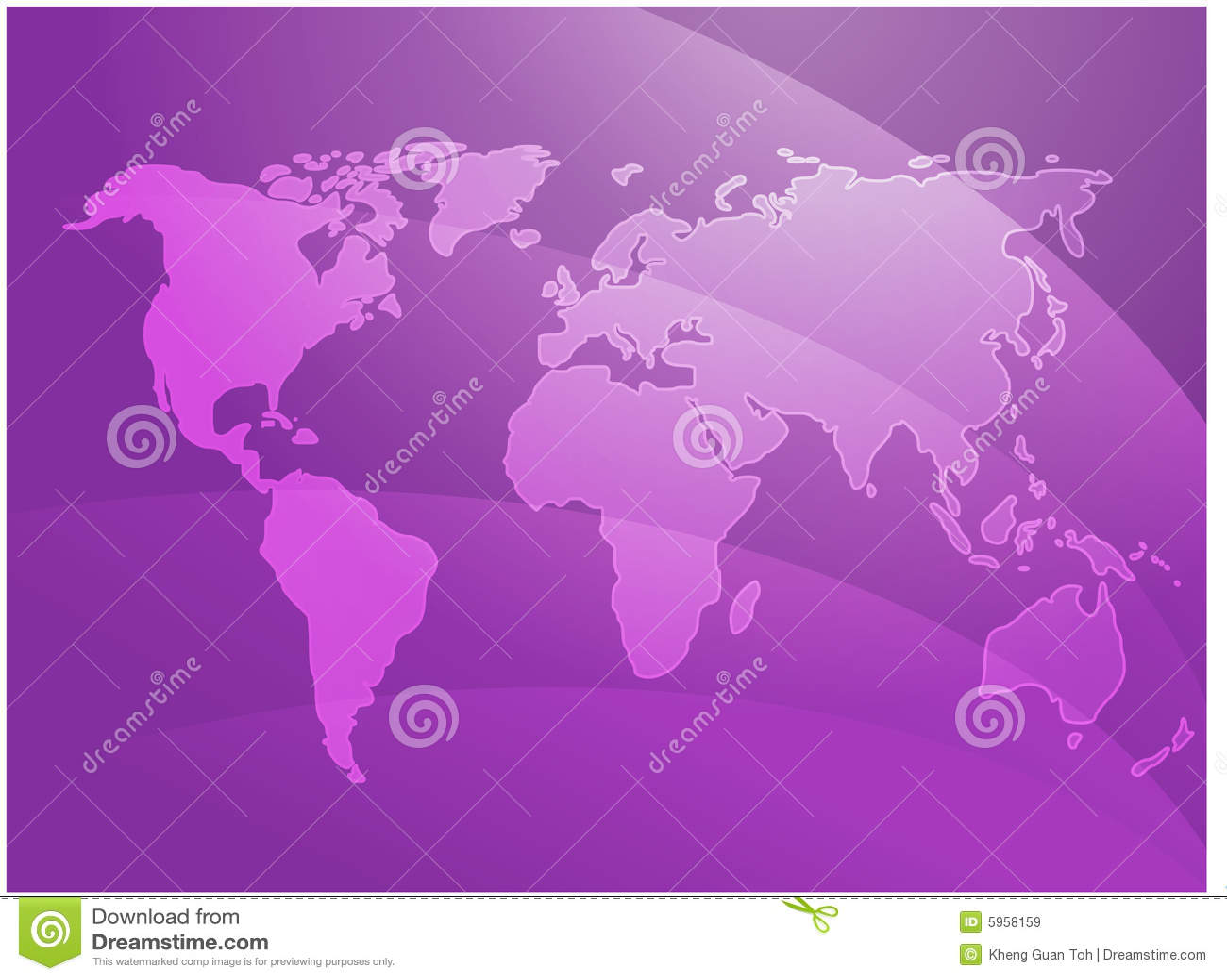 Ondes de carte du monde