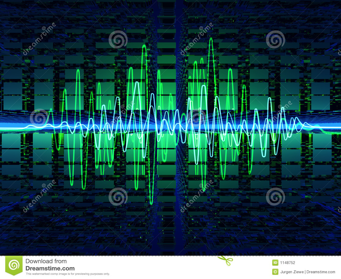 Ondes Sonores Photographie stock Image: 1148752