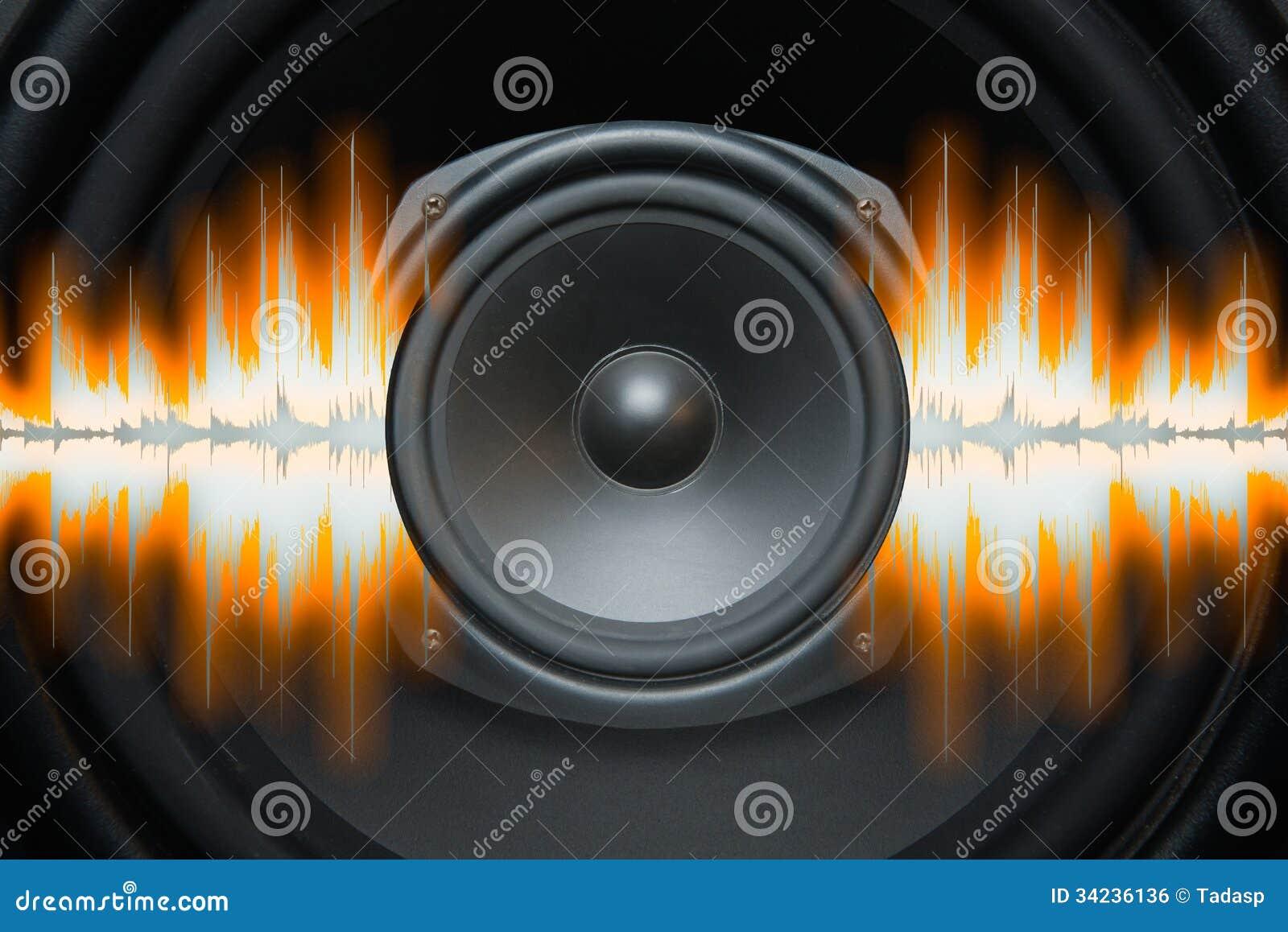 Ondes sonores de haut-parleur