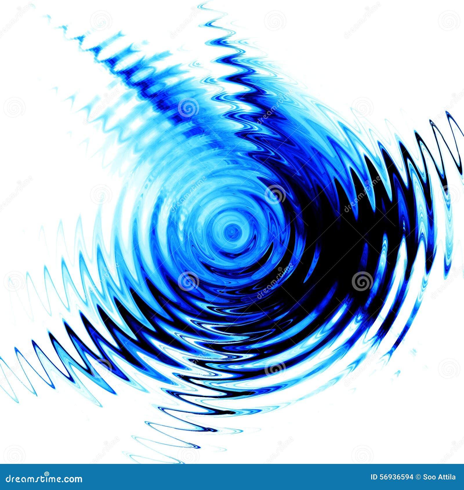 Ondulation bleue dans l eau